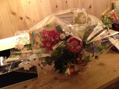 たくさんのお花をいただきました。