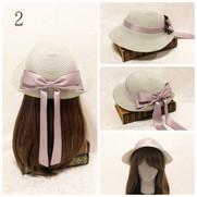 2.ベル セゾンのクラシックハット薫風(クラシックアイボリー&モーブピンク)¥20,790