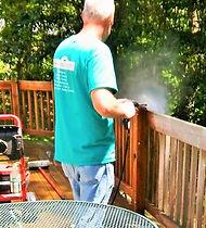 Pressure washing decks, siding, brick and concrete in Kalamazoo and Portage