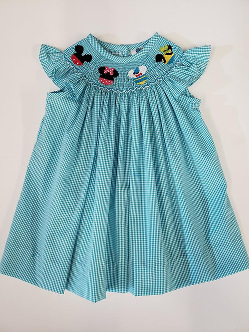 Mouse Friends Smock Dress