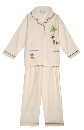 AURORA ROYAL BEIGE PYJAMAS