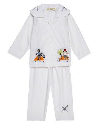 WHITE BOYS PYJAMA SET