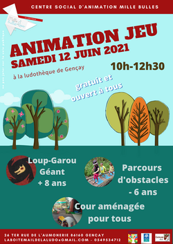 Animation jeu 12 juin 2021