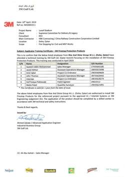 3M Applicator Training Certificate - Lus