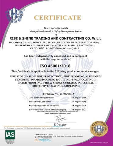 Firestop Contractor ISO Certificate2