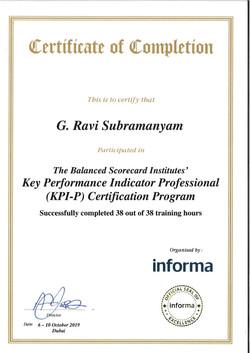 Ravi Subramanyam KPIP