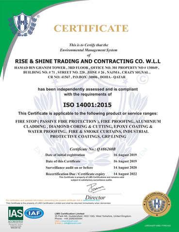 Firestop Contractor ISO Certificate1