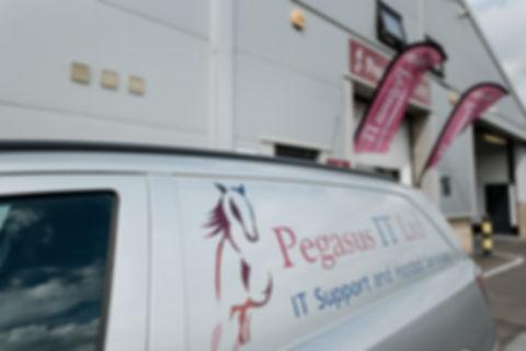 Pegasus IT Van and shop front