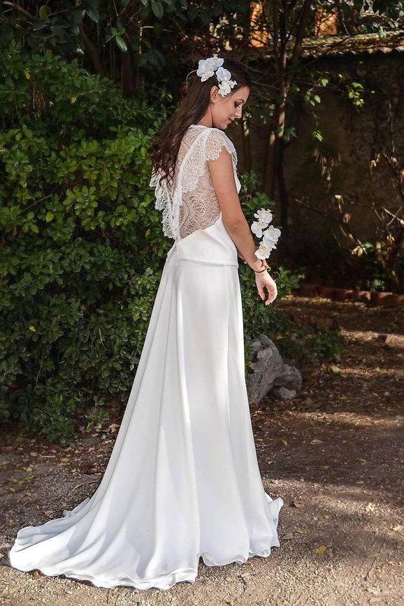 Robe de mariée de location champêtre en