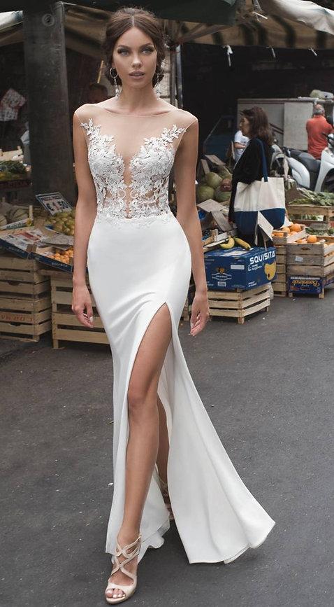 Robe de mariée Valentina avec une coupe