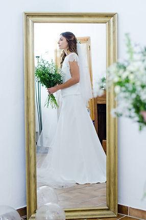 Robe de mariée bohème chic en dentelle à