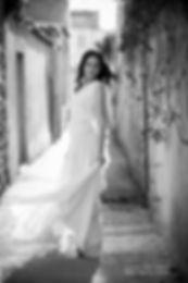 Robe de mariée en mousseline de soie boh