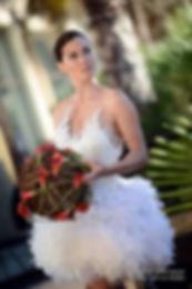 Robe de mariée Rock chic en cuir et en