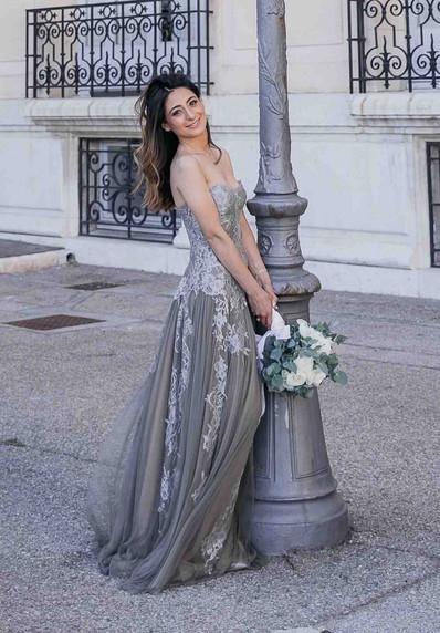 Robe de mariée Victoire bustier en tulle de soie à Marseille