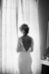 Robe de mariée vintage dos nu longue en