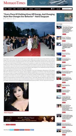 Monaco Times - Naira Sargsyan