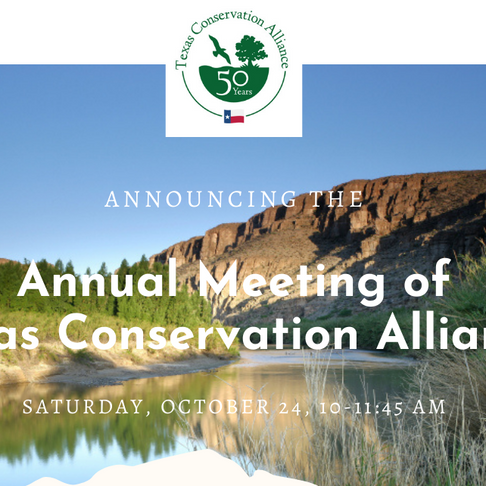 Join us for TCA's Annual Meeting Saturday, October 24, 10 - 11:45 AM
