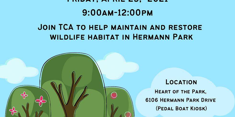 Wildlife Habitat Restoration at Hermann Park