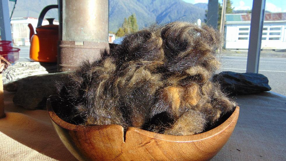 Hand-plucked tail fibre from Taranaki