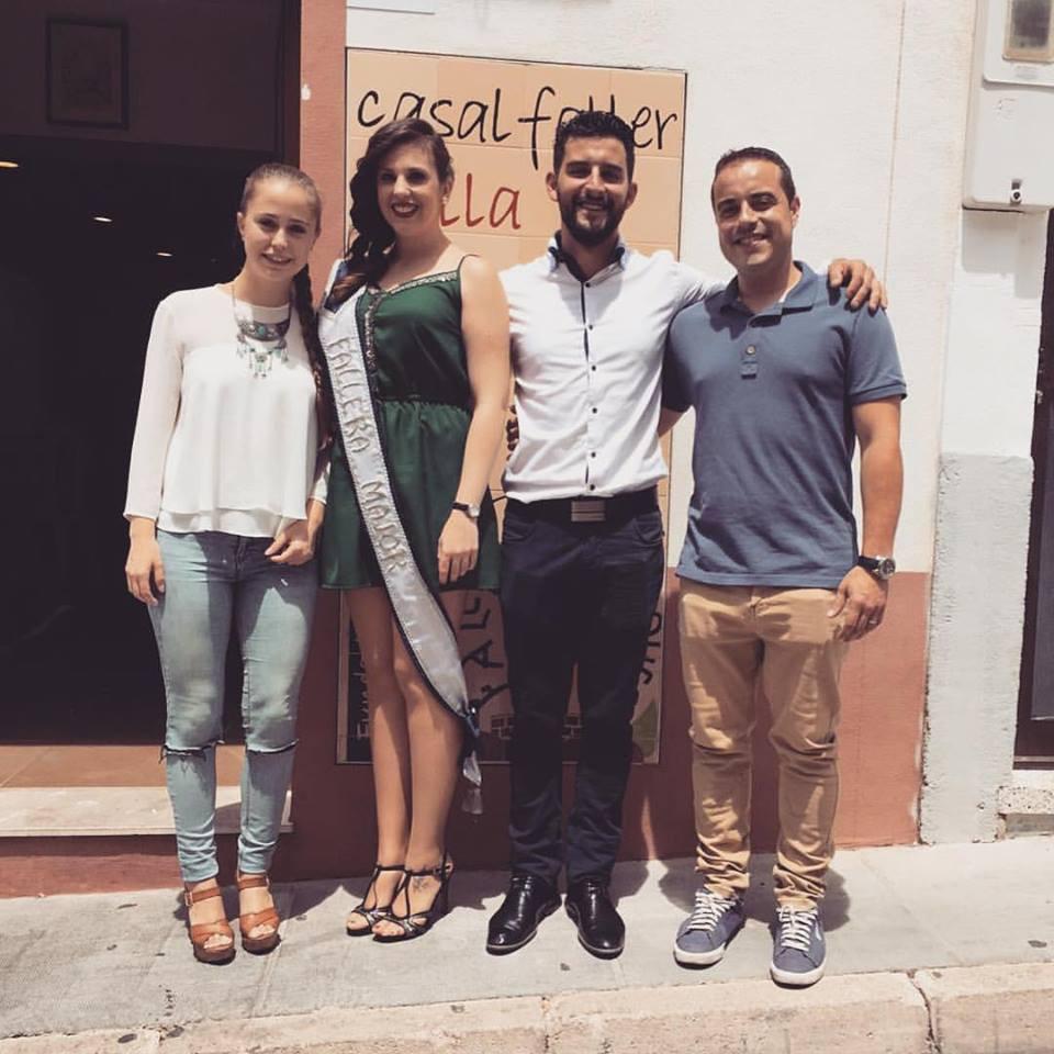 Laura i Javier en el Nomenament de les FFMM de Les Roques