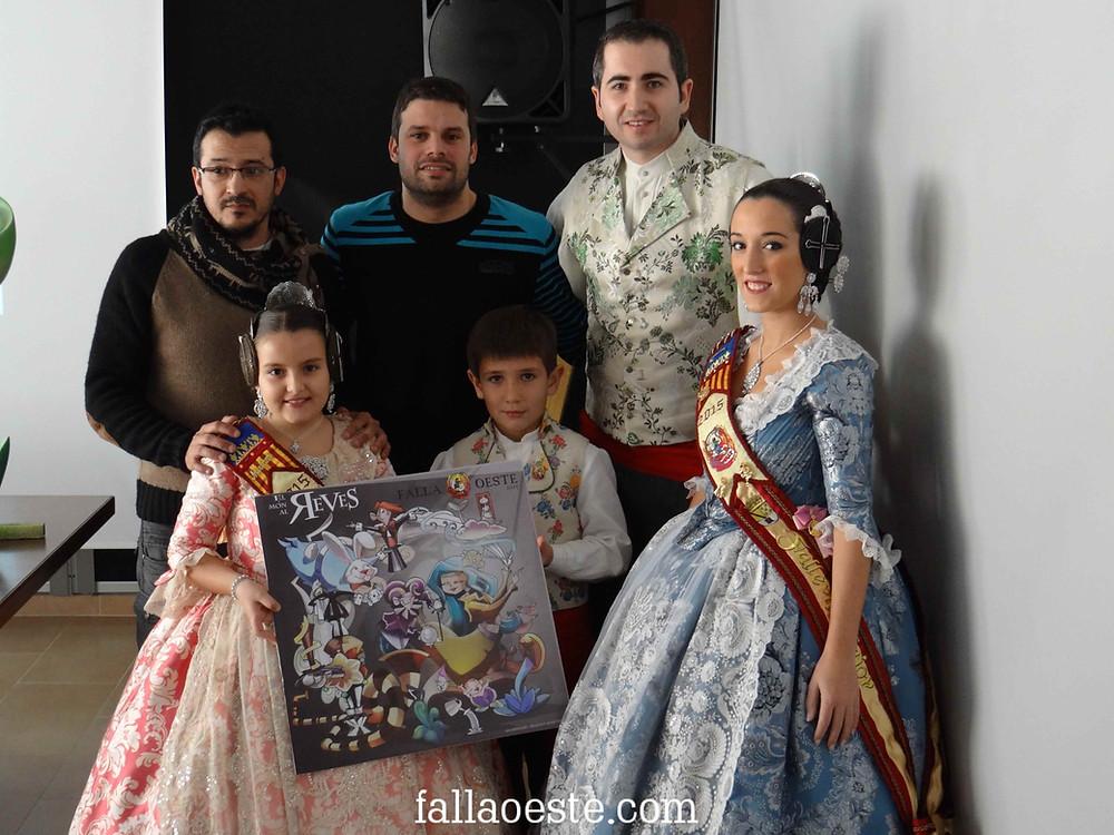 Gonzalo i Pau presentant el monument infantil 2015