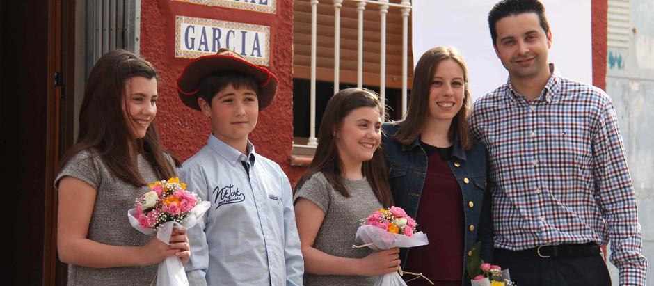 Núria i María Vayà i Carlos Alcalá, càrrecs infantils 2016