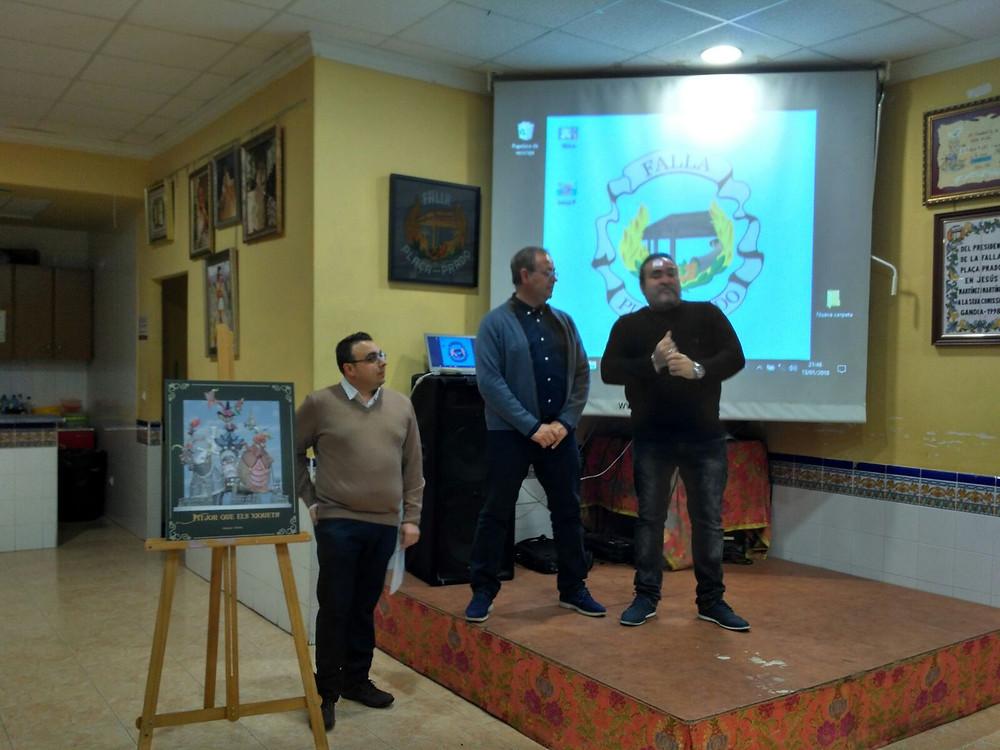 Luis i Pepe presentant el esbos major