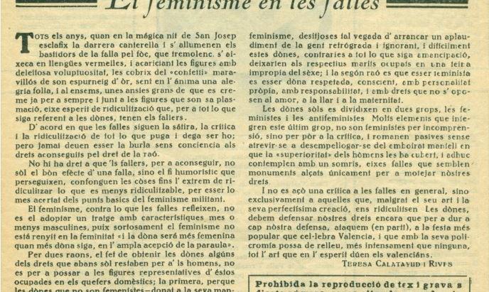 El feminisme en les falles