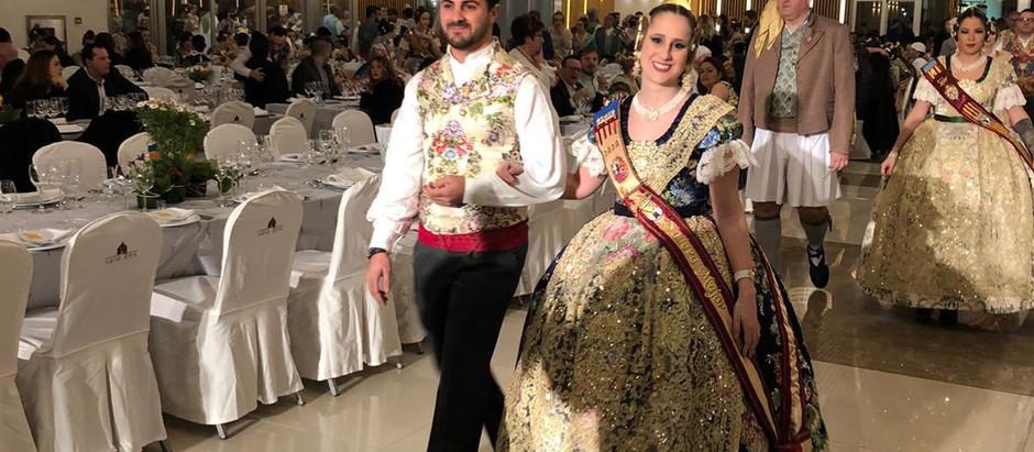 Maria Jesús i Àlex, presents a la III Gala de Fallera 2020 de Carcaixent