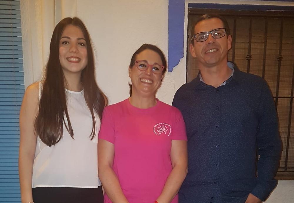 Els nostres càrrecs amb la presidenta de la comissió de festes del Carrer Trinitat: Isabel Gallego