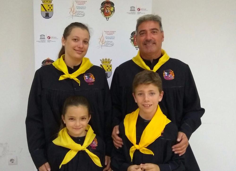 Celia, Aitor, Rosa i Vicent en la inauguració dels Jocs Fallers 2018