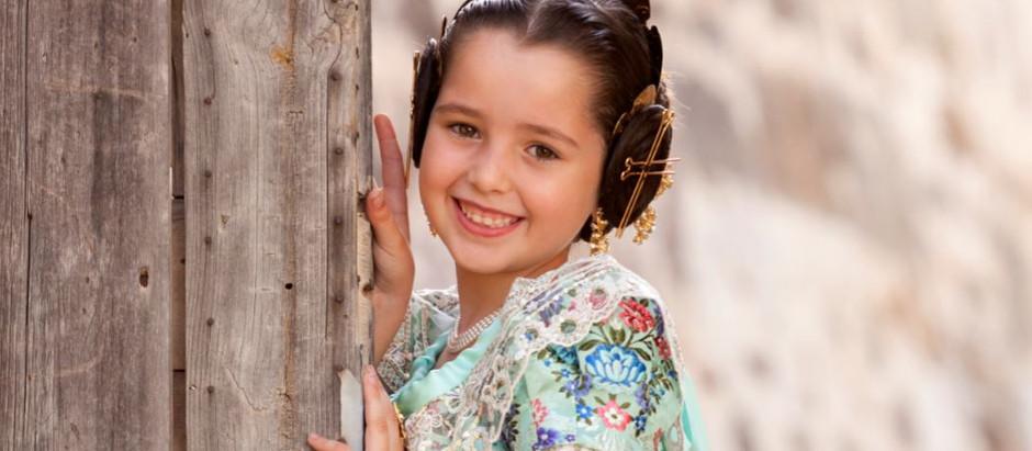 Neus Sánchez i García, candidata a Fallera Major Infantil de Dénia 2018