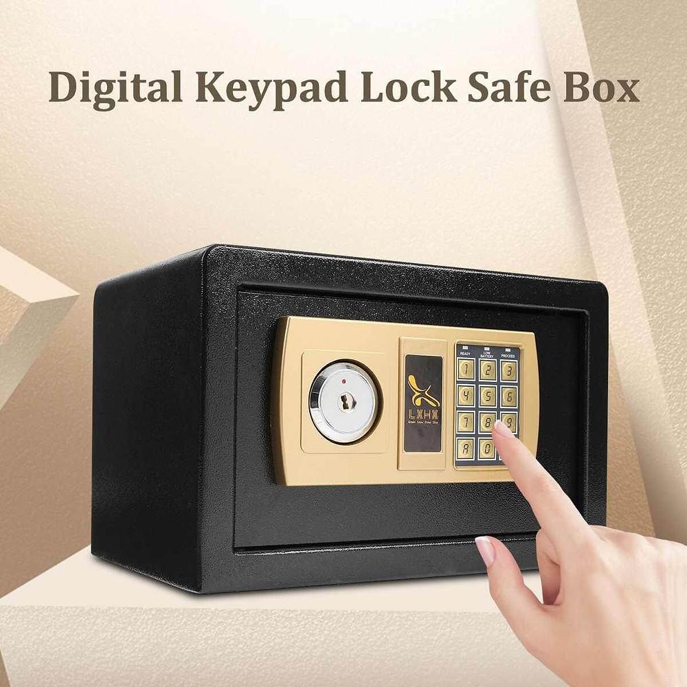 Mini cajas fuerte con código de seguridad