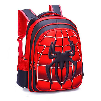 Mochila Escolar Spiderman Para Niños Joven Adultos Con Dibujos Del Hombre Araña