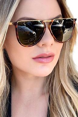 Gafas De Sol Polarizaadas Leopardo Con Lentes Degradantes