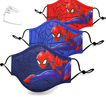 Mascarillas de spiderman para niños lavables reutilizables con filtro