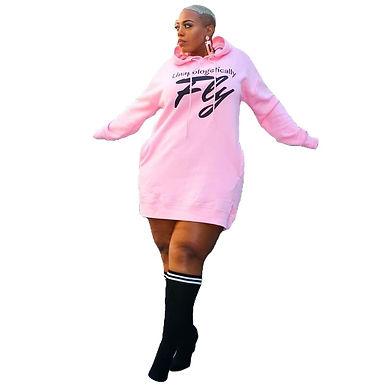 Vestido Sudaderas Con Capucha Tallas Grandes Para Viajar De Mujer