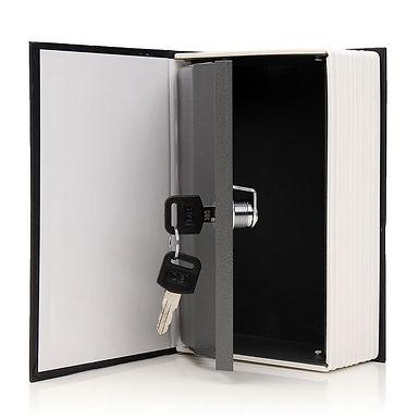 Libro caja fuerte con llave
