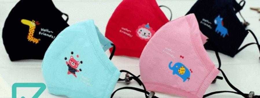 Mascarillas reutilizables lavables de niños con filtro Parairdevacaciones
