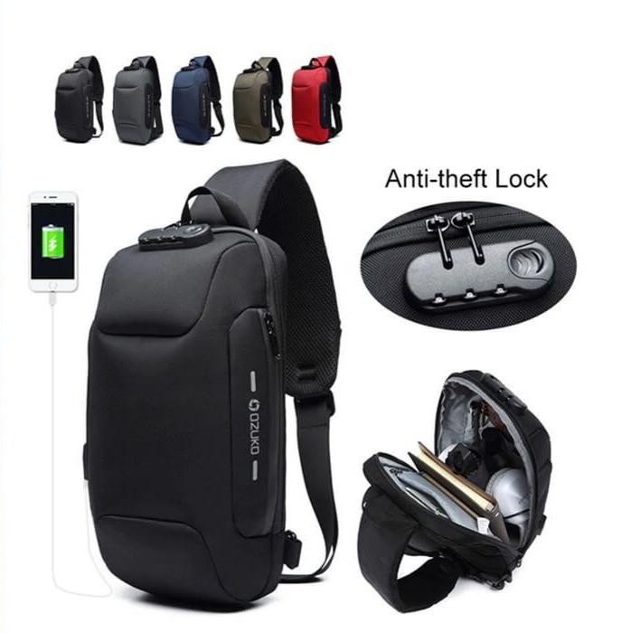Mochila Pechera Antirrobo Con Puertos De Carga USB Con Muchos Compartimentos