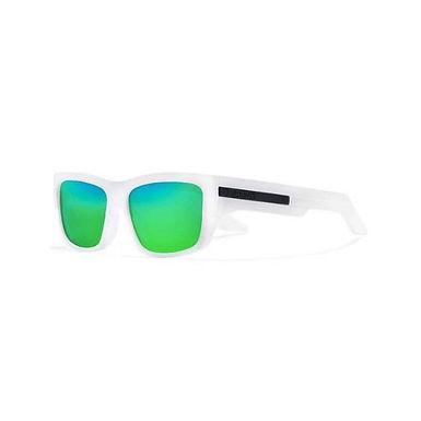 Gafas De Sol Polarizadas Con Marcos Blancos Lentes Verdes De Moda Alta Calidad