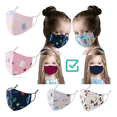 1-5 Mascarillas Reutilizables Para Niños