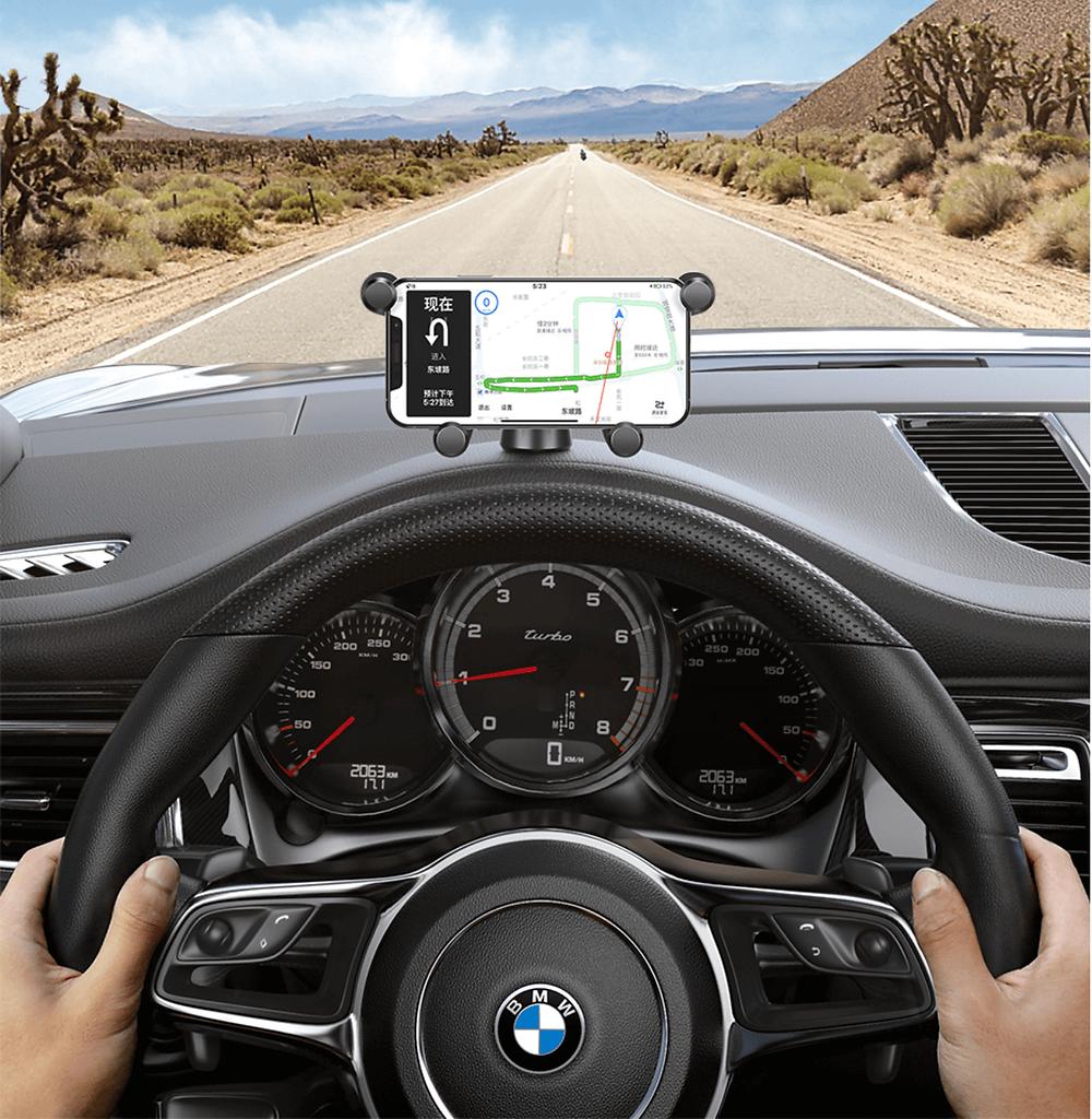 Soporte telefono movil orientacion horizontal para viajar en coche