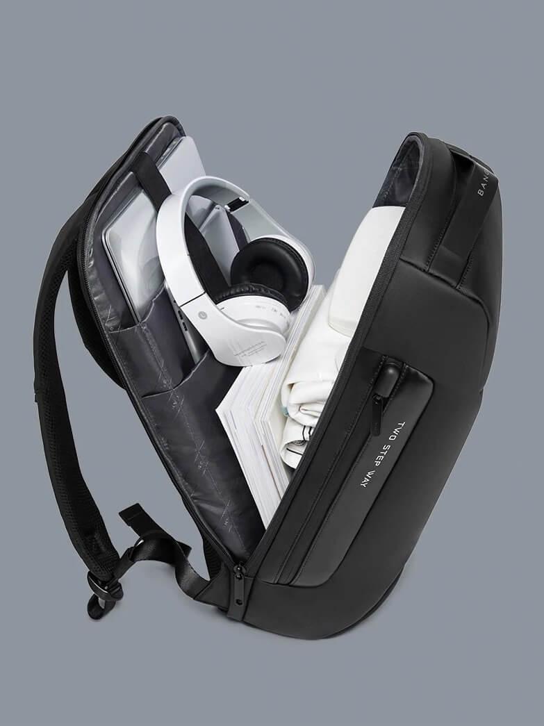 Mochila De Negocios Antirrobo Con Compartimento Para Portátil Puerto USB Resistente Al Agua De Gran Capacidad Para Viajes De Negocios