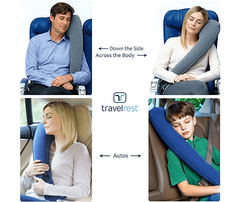 Almohada de viaje para ir de vacaciones en avion