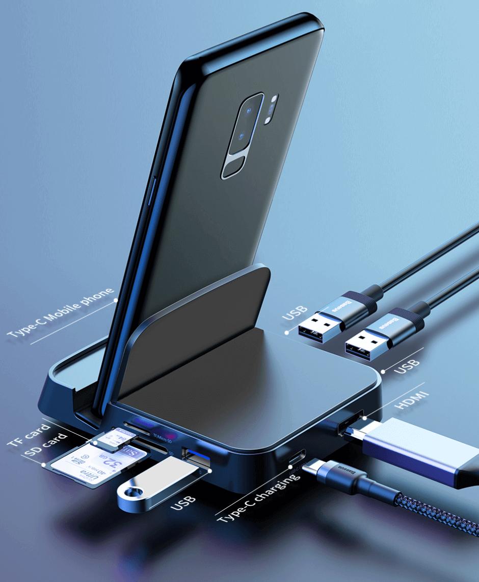Base de conexion USB multiple para viajeros universitarios Parairdevacaciones.com