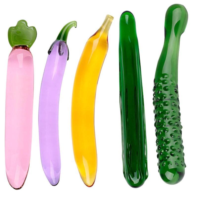 Juguetes sexuales eróticos para mujeres; diseño y tecnología para combatir la rutina, consolador de vidrio Pyrex para mujeres, juguete sexual de masturbación, fruta, verdura, pene Artificial