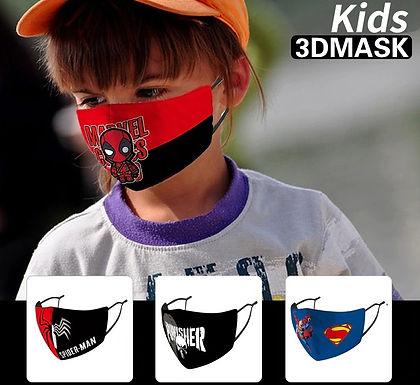 Mascarillas de superhéroes para niños