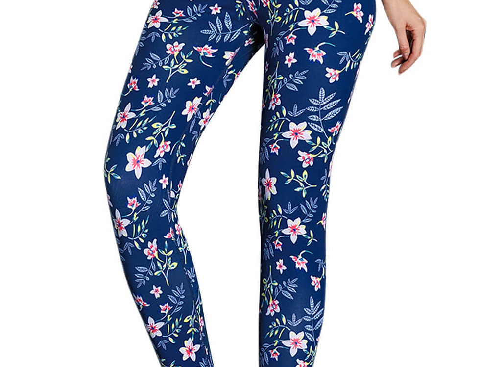 DM_Floral_Navy_Print_Fashion_Compression_Leggings_Yoga_Pants