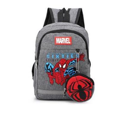 Mochila Spiderman Marvel Lona Para Niños Escolar Pequeña
